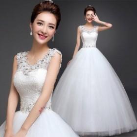 プリンセス ウエディングドレス 二次会 花嫁 ドレス 結婚式 aライン ゴージャス プリンセスライン ロング 格安 姫 ウェディングドレス オ