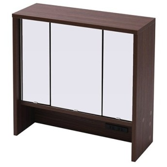 鏡 ミラー 卓上 三面鏡 ドレッサー 幅60 デスク別売/FBF-0002-BR ブラウン