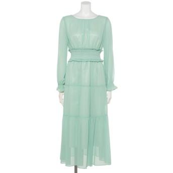 70%OFF Weaver (ウィーバー) 【Je super】シャーリングレースUPドレス ミント