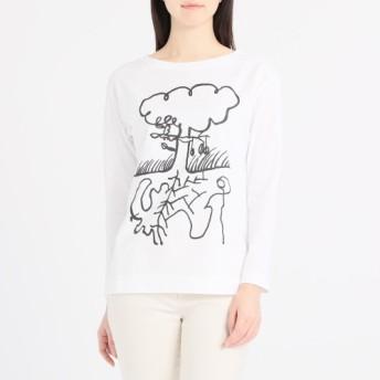 ジュンコ シマダプリントデザイン長袖Tシャツ