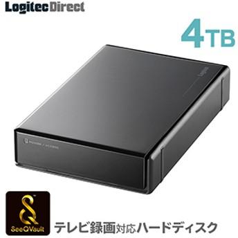 SeeQVault対応 外付けHDD ハードディスク 4TB ブラック
