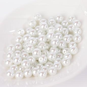 パールビーズ グラスパール 6mm ホワイト純白 P41