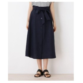grove(グローブ)【WEB限定サイズあり】リネンタッチフロントボタンスカート