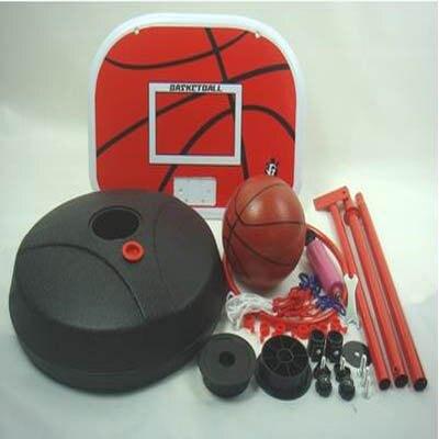 【1.6米鐵框大底座籃架配2球-1套/組】便攜式兒童籃球架可升降移動家用玩具籃筐-5670709