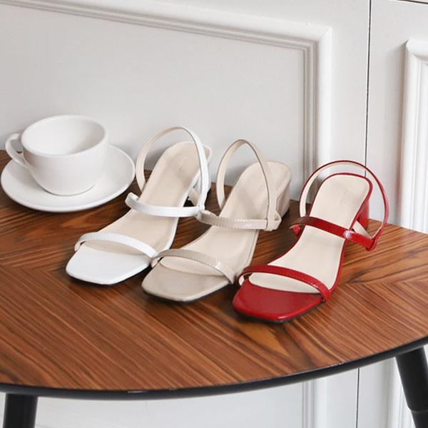 [SAPPUN官方旗艦店]Dana釦帶高跟涼鞋(5cm)