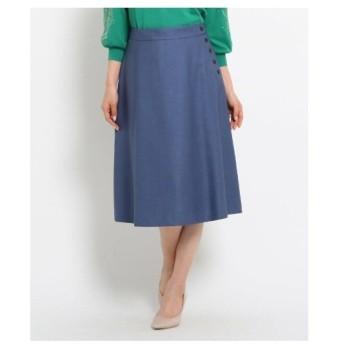 SunaUna(スーナウーナ)【洗える】ボタンモチーフフレアスカート
