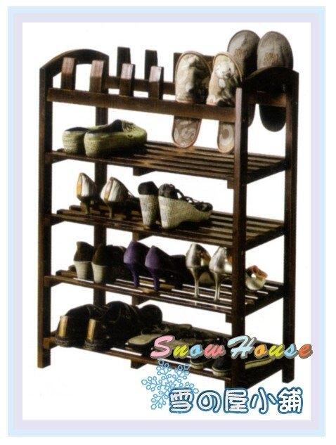 ╭☆雪之屋居家生活館☆╯R567-12 WG-307實木四層插鞋架/ 鞋櫃 / 拖鞋架/鞋叉/DIY自組