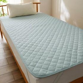 綿混素材のさらしゃり敷きパッド