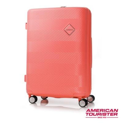 AT 美國旅行者 24吋Groovista 霧面耐磨吸震PC硬殼行李箱 珊瑚橘 GF6*55002