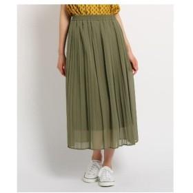Dessin(Ladies)(デッサン(レディース))【洗える】【ウエストゴム】楊柳シフォンプリーツスカート