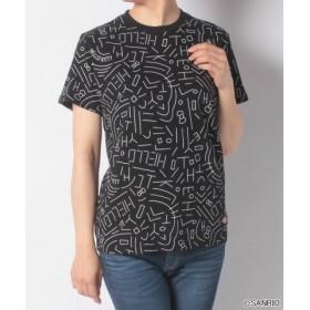 (Dickies/ディッキーズ)HELLO KITTY幾何学柄プリントS/S-Tシャツ/ユニセックス ブラック
