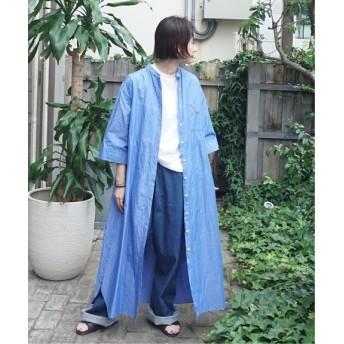 journal standard luxe C/Raシャンブレー マキシワンピース◆ ブルー A フリー