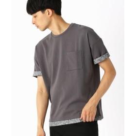 COMME CA ISM / コムサイズム 異素材コンビ ビッグTシャツ