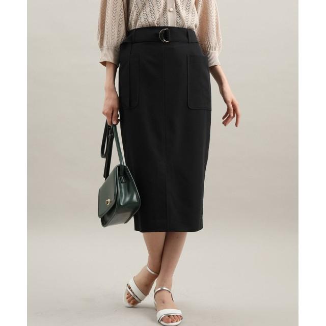 ViS ビス ベルト付きフロントスリットタイトスカート