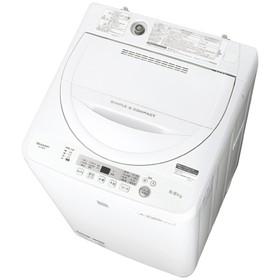 シャープ5.5kg全自動洗濯機keywordキーワードホワイトESG5E5KW