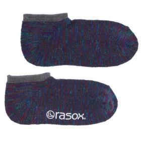 ラソックス コットンスラブミックス・ロウ  CA161SN01-409 靴下 ネイビーミックス (Men's)
