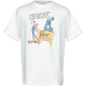 《期間限定 セール開催中》RO ROGER'S メンズ T シャツ ホワイト M コットン 100%