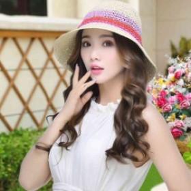 女性用帽子m0601 女優帽 麥わら帽子 旅行 ハット つば広 紫外線対策 折り畳み 夏 UVカット レディース ストローハットLLPH-0060