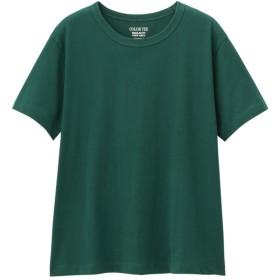 (GU)カラークルーネックT(半袖) DARK GREEN XS