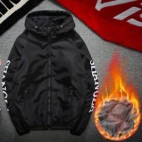 マウンテンパーカー メンズ ジャケット 裏起毛 ショート丈 無地 大きいサイズ アウター トップス 撥水 アウトドア 2018新作登場