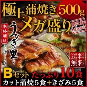鹿児島県産うなぎ 極上蒲焼きメガ盛りBセット カット蒲焼き きざみ蒲焼き 送料無料