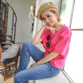 リゼクシー RESEXXY 【WEB限定】ロールアップスリーブTシャツ (ピンク)