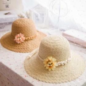 レディー つば広 帽子 帽子m0601 紫外線対策 日よけ 麥わら帽子 ハット 折りたたみ帽子 小顔効果 ストローハット 旅行 LLPH-0485