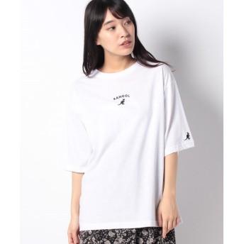ラナン (KANGOL)ミニロゴTシャツ レディース オフホワイト L 【Ranan】