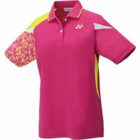 ヨネックス(YONEX) レディース テニスウェア ゲームシャツ ベリーピンク 20500 654 【テニス バドミントン ユニフォーム 半袖 ポロシャ
