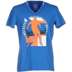 《期間限定 セール開催中》BIKKEMBERGS メンズ T シャツ ブルー L コットン 92% / ポリウレタン 8%