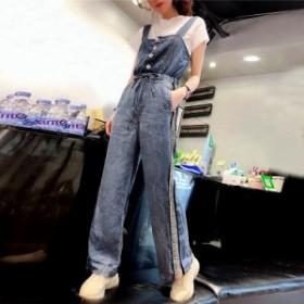 大きいサイズ サロペット オールインワン セットアップ デニムのオーバーオール オーバーオール レディース デニム Tシャツ 半袖