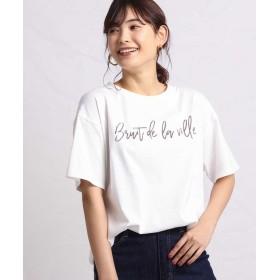 【16%OFF】 アー・ヴェ・ヴェ ロゴビッグTシャツ レディース ホワイト S 【a.v.v】 【セール開催中】