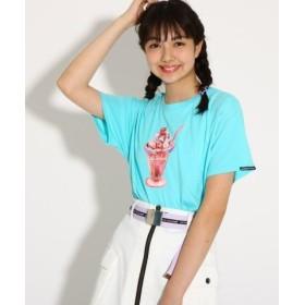 (PINK latte (Teen)/ピンク ラテ(ティーン))【monetコラボ】Tシャツ/レディース ライトグリーン(021)