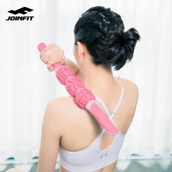 joinfit瘦腿按摩棒泡沫軸健身瑜伽柱肌肉放鬆神器小腿筋膜滾輪軸