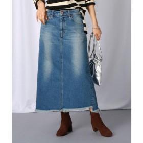 JET / ジェット 【洗える】カットオフ ロングデニムスカート
