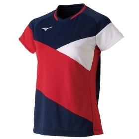 ミズノ ドライサイエンスゲームシャツ(ラケットスポーツ)[レディース] ドレスネイビー Mizuno 72MA9221 14