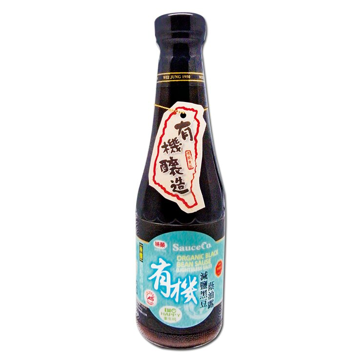 【味榮】極釀級 有機黑豆減鹽蔭油露320ml