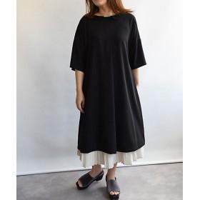 【送料無料】<BASCO> 大きいサイズ クロニクル小さな丸衿の上質ブラックドレス エリルワンピース2 黒(XOE-078)(クローバー) 黒 【三越・伊勢丹/公式】