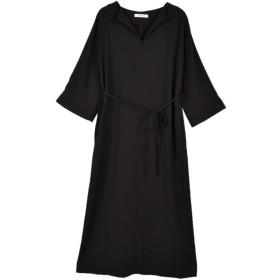 【バイヤーズコレクション(BUYER'S COLLECTION)】 【OUTER SUNSET】【期間限定販売】Georgette dolman maxi dress ブラック