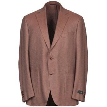 《期間限定 セール開催中》ERMENEGILDO ZEGNA メンズ テーラードジャケット キャメル 56 シルク 51% / カシミヤ 49%