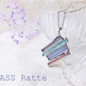 SALE☆パステルカラーのふんわりカラーのガラスネックレス