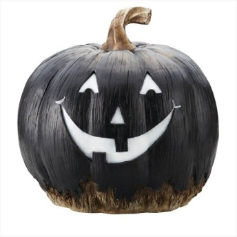 パンプキンオブジェ ブラック フェイスM1個 【ハロウィン halloween 装飾 飾り ディスプレイ 置物 インテリア 雑貨 小物 ハロウイン ハロウィーン】