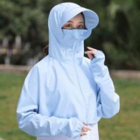 紫外線対策 帽子 UVカット つば広ハットm0601 マスク付き レディース ラッシュガード 取り外し可能 サンバイザー UV LLPH-0311