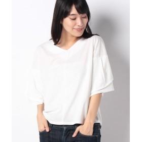 ラナン ひら袖フェミニンTシャツ レディース ホワイト M 【Ranan】