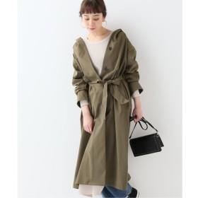 【イエナ/IENA】 タスランフード ベルト付きコート