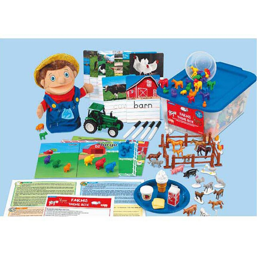 【華森葳兒童教玩具】語文教具系列-主題教學2-農場 N8-FF961