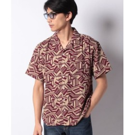 (Melan Cleuge/メラン クルージュ)総柄オープンカラーシャツ/メンズ ベージュ