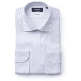 NEWYORKER / 【オフシーズンセール】【NY CARE FREE】ナローストライプ/長袖ワイドカラードレスシャツ