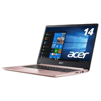 SF114-32-N14Q/P ノートパソコン Swift 1 サクラピンク [14.0型 /intel Celeron /SSD:128GB /メモリ:4GB /2018年5月モデル]