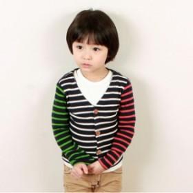 韓国子供服【wittyboy】 (ウィッティーボーイ カーディガン) クレイジーカラーカーディガン